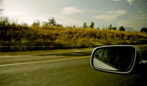 No matter where you drive you always end up taking pictures of your rear-view mirror.